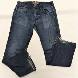 William Rast Billy Flare Mens Jeans Button Fly 34